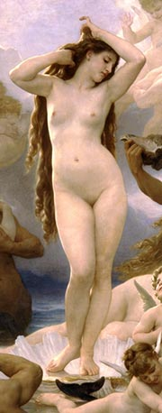 William Adolphe Bouguereau: Die Geburt der Venus (Detail)